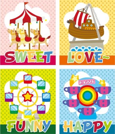 cartoon playground card Stock Vector - 9598563