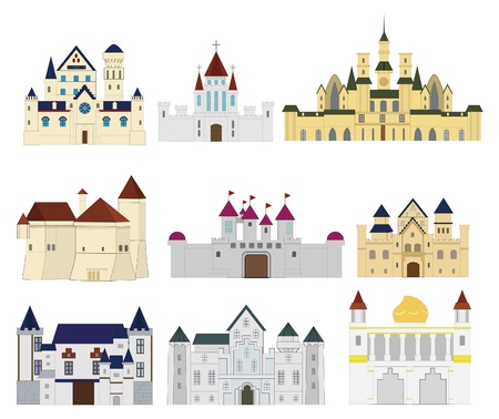 cartoon Fairy tale castle icon Stock Vector - 9598572
