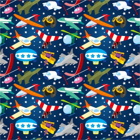 seamless airplane pattern Stock Vector - 9598577