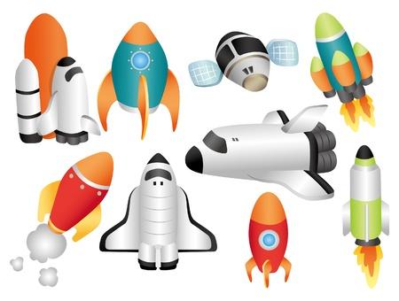 cartoon ruimteschip icoon
