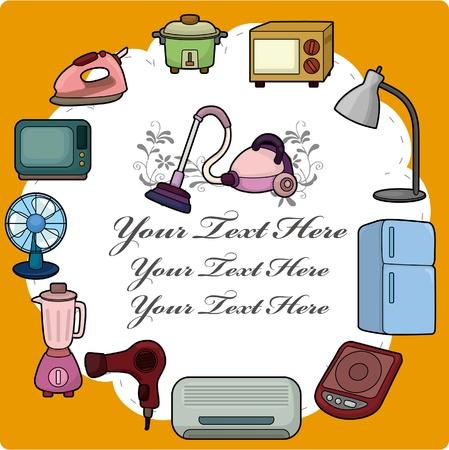 home appliance: cartoon home appliance card