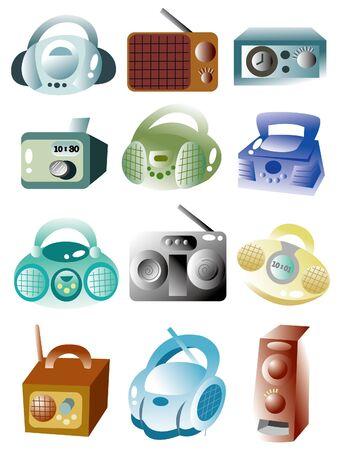 cartoon radio icon Stock Vector - 9598611