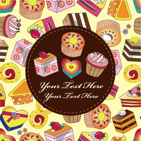 cake card Stock Vector - 9598482
