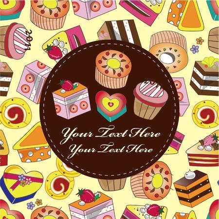 carte de gâteau Vecteurs