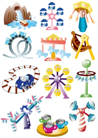 cartoon playground icon set Vector