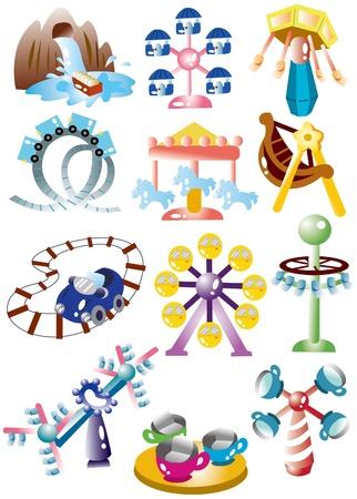cartoon playground icon set Vector