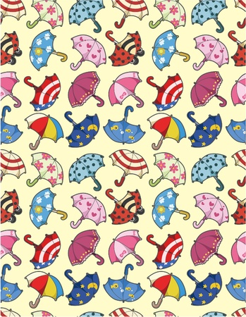 seamless umbrella pattern Stock Vector - 9598628