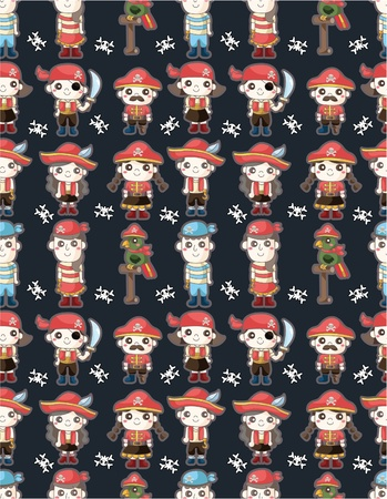 seamless pirate pattern Stock Vector - 9598630