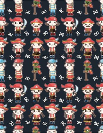 seamless pirate pattern Vector