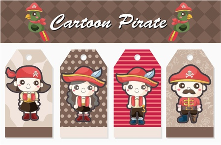 pirate card  Vector