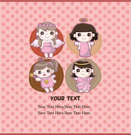 angel card Stock Vector - 9598474