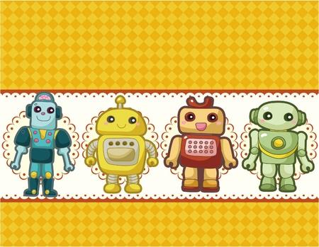 cartoon robot card Stock Vector - 9598632