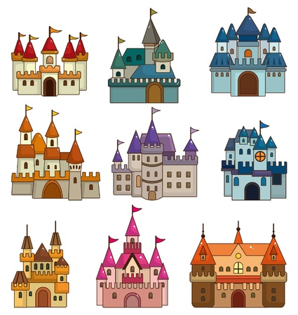 cartoon Fairy tale castle icon Stock Vector - 9598644