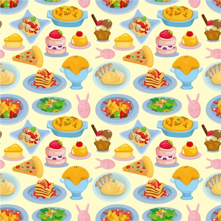 cartoon Italian food seamless pattern Vector
