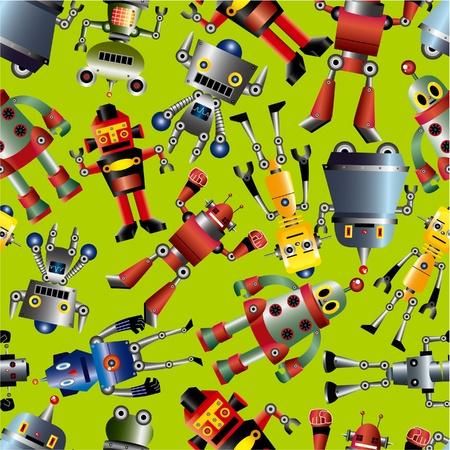 seamless robot pattern Stock Vector - 9598662