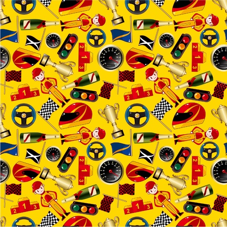 colourful fire: seamless f1 pattern Illustration