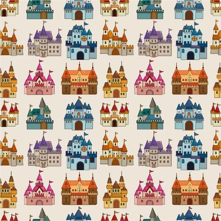 cartoon Fairy tale castle seamless pattern Stock Vector - 9635545