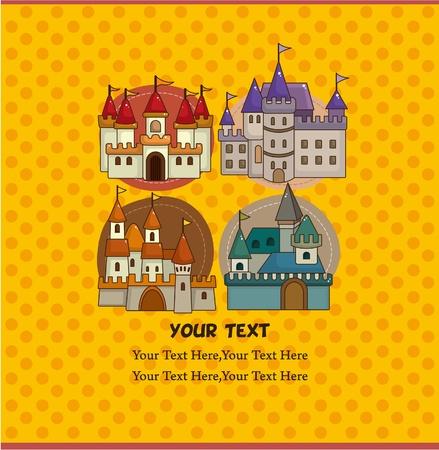 cartoon castle card Stock Vector - 9635540