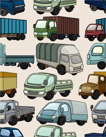 seamless truck pattern Stock Vector - 9635553