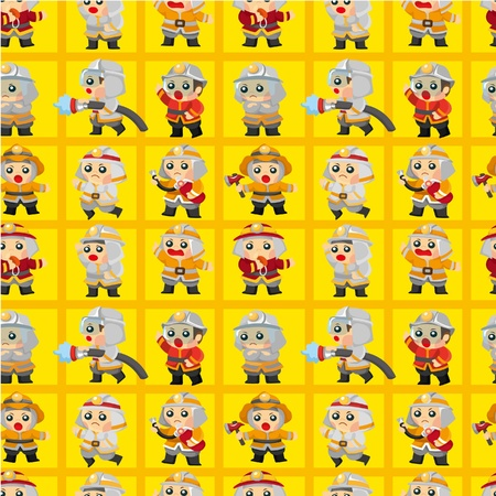 cartoon Fireman seamless pattern Stock Vector - 9635577