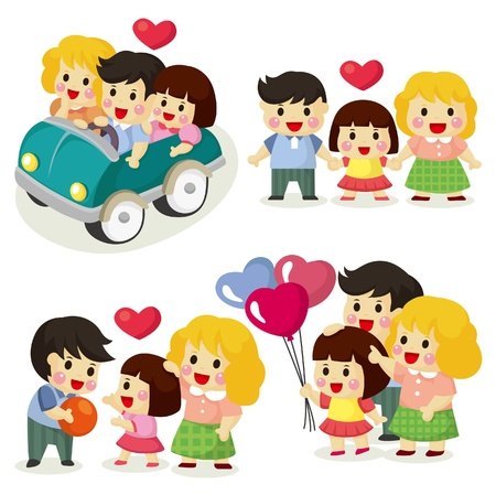 cartoon family icon set Stock Vector - 9635579