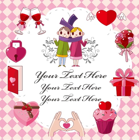 cartoon love card Stock Vector - 9673756