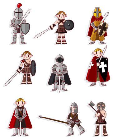 ナイト: 漫画ナイト アイコン  イラスト・ベクター素材