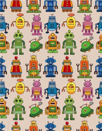 seamless robot pattern Stock Vector - 9673785