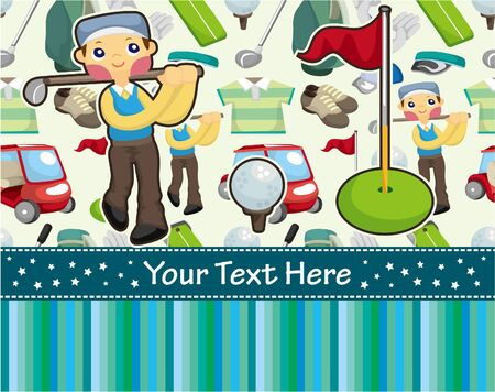 golf cart: cartoon golf card Illustration