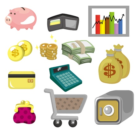 cartoon Finance & Money Icon set Stock Vector - 9673788