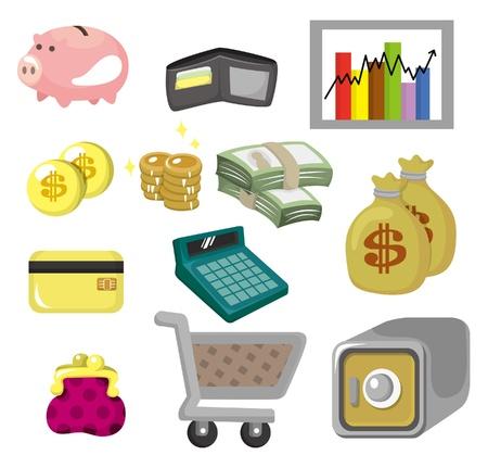 cartoon Finance & Money Icon set Stock Vector - 9673788