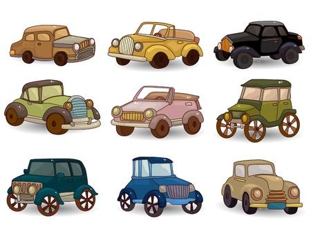 cartoon retro car icon set Stock Vector - 9673806