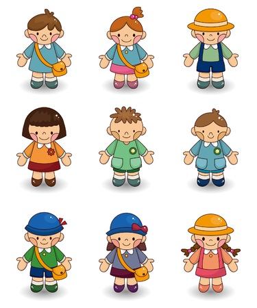 cartoon kid icon set Stock Vector - 9673804