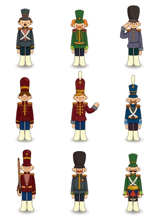 cartoon Toy soldiers icon Vector