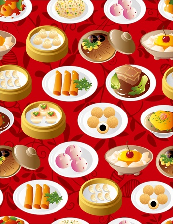 china cuisine: seamless chinese food pattern