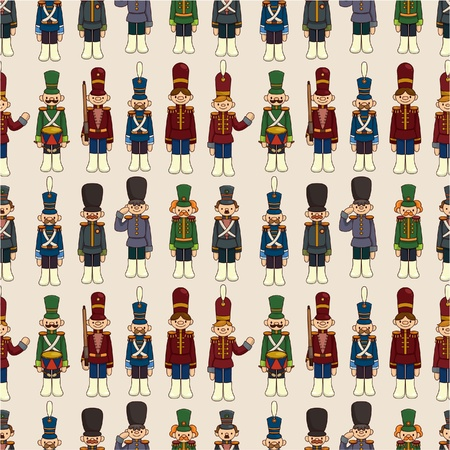 cartoon Toy soldier seamless pattern Vector