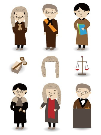 cartoon Judge icon set Stock Vector - 9673823