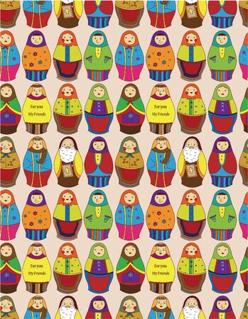 seamless Russian doll pattern Stock Vector - 9673838