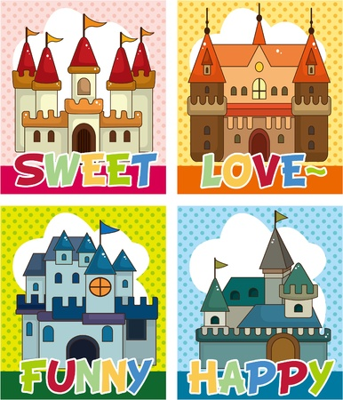 cartoon castle card Stock Vector - 9673833