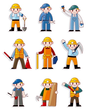 cartoon worker icon Stock Vector - 9719802