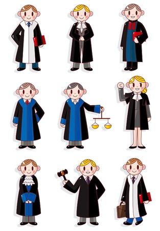 cartoon Judge icon set