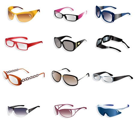 cartoon Glasses icon   Vector