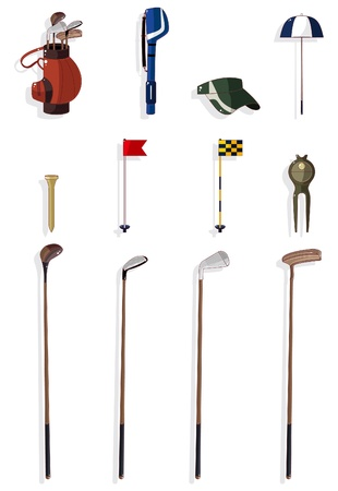 cartoon golf icon Stock Vector - 9721077