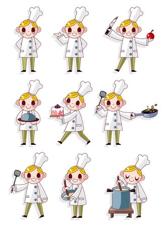 cuisine: cartoon chef icon
