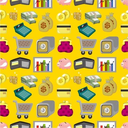 cartoon Finance & Money seamless pattern Vector