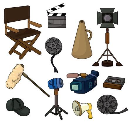 tekenfilm apparatuur icon set Vector Illustratie