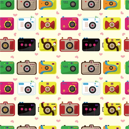 seamless camera pattern  Vector