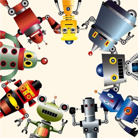 robot card  Vector
