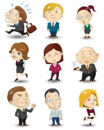ceo: cartoon office workers icon