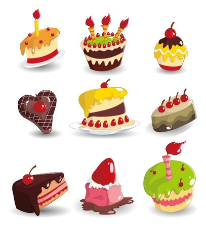 cartoon cake icon Stock Vector - 9722045